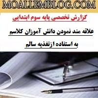 گزارش تخصصی معلمان سوم ابتدایی
