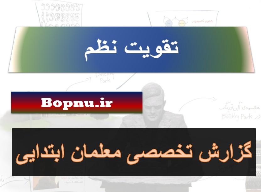 گزارش تخصصی نظم - ابتدایی